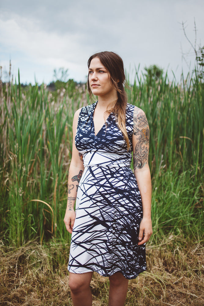 Maddie Dress in Tall Grass