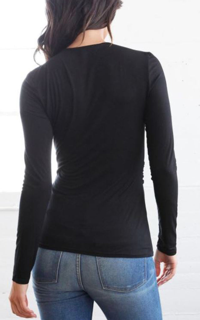 Long Sleeve Top with Cut Out
