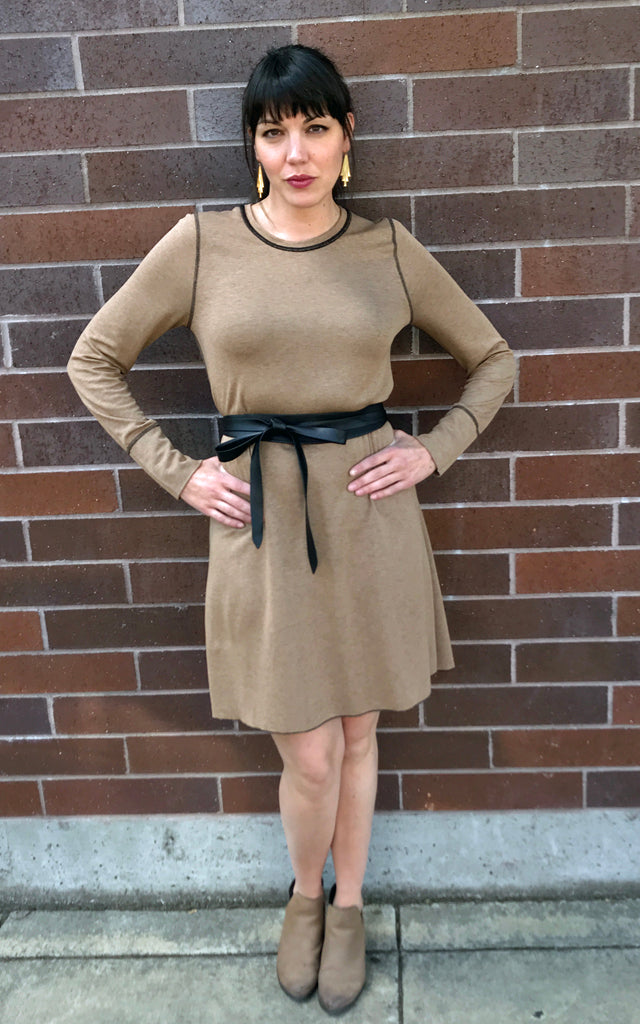 Reversible Color block Sweater Dress