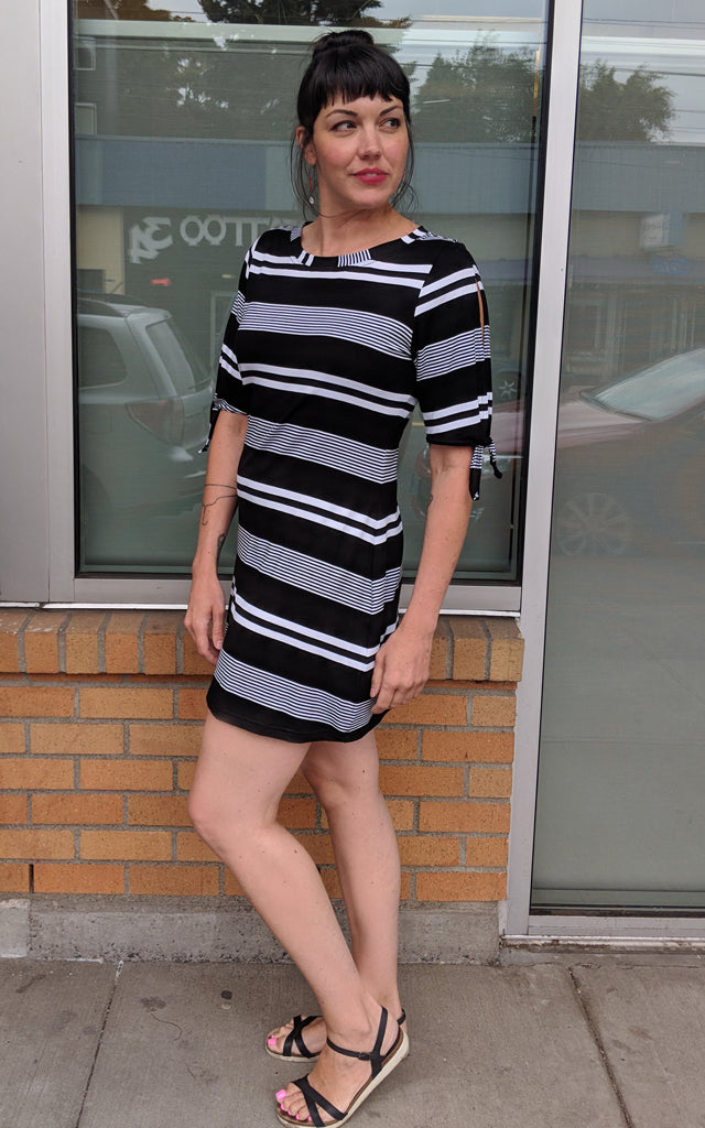 Space Dress in Stripe