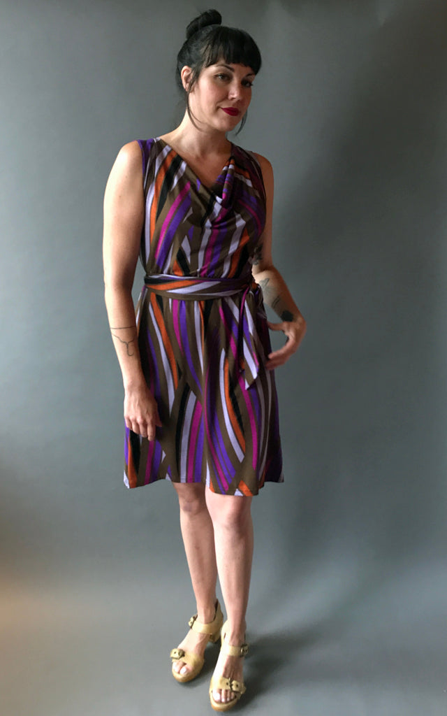 J. Leigh Cowl-Neck Dress in Vines