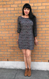 Long Sleeve Space Dress in Diamond