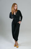 Rorey Long Sleeve Jumpsuit in Soft Black