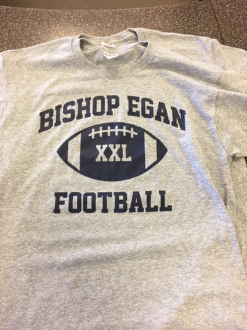Bishop Egan Football T-Shirt/Gray