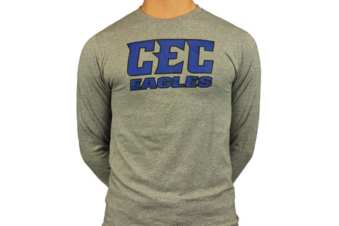 CEC Eagles Gray Long Sleeve Tee