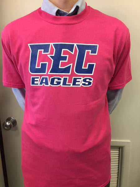 Hot Pink CEC Eagles T-Shirt S/S