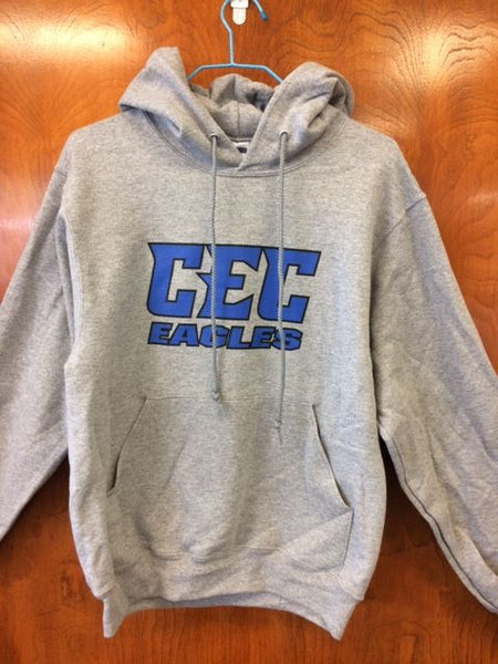 CEC Eagles  Light Gray Hoodie