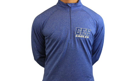 CEC Eagles 1/2 Zip Pullover Heather Royal