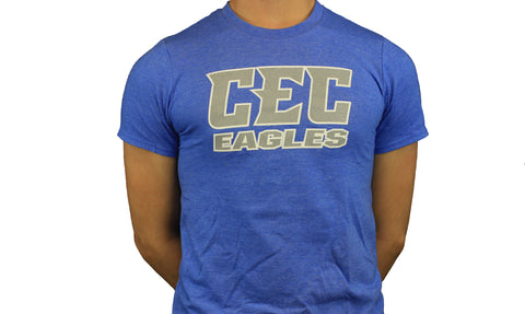 CEC Eagles Heather Royal with Gray logo