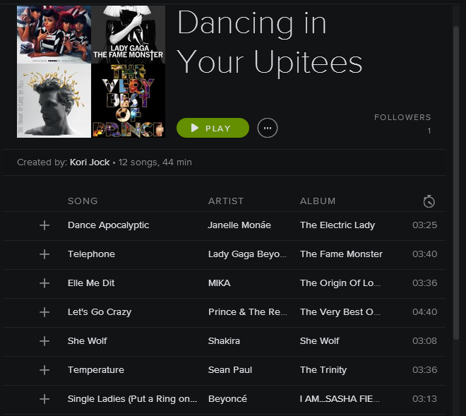 Click here to head to the playlist on Spotify
