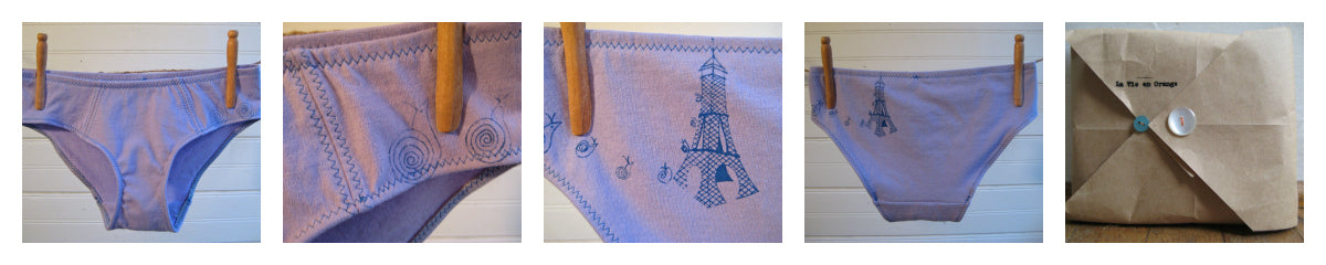 La Vie en Orange Eiffel Tower Undies Close Up