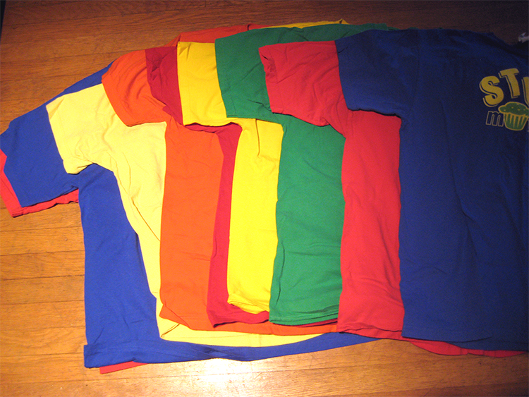 A Crayola box of tshirts! | La Vie en Orange