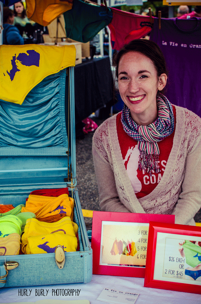 LVEO's founder, Kori Jock, will be staffing the undies booth at our last Farmer's Markets of the season on 10/3 & 10/15