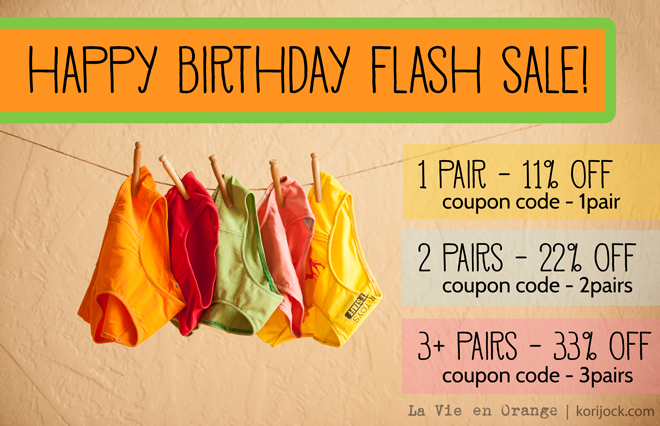 Get up to 33% off June 26th only - it's a happy birthday flash sale! | La Vie en Orange