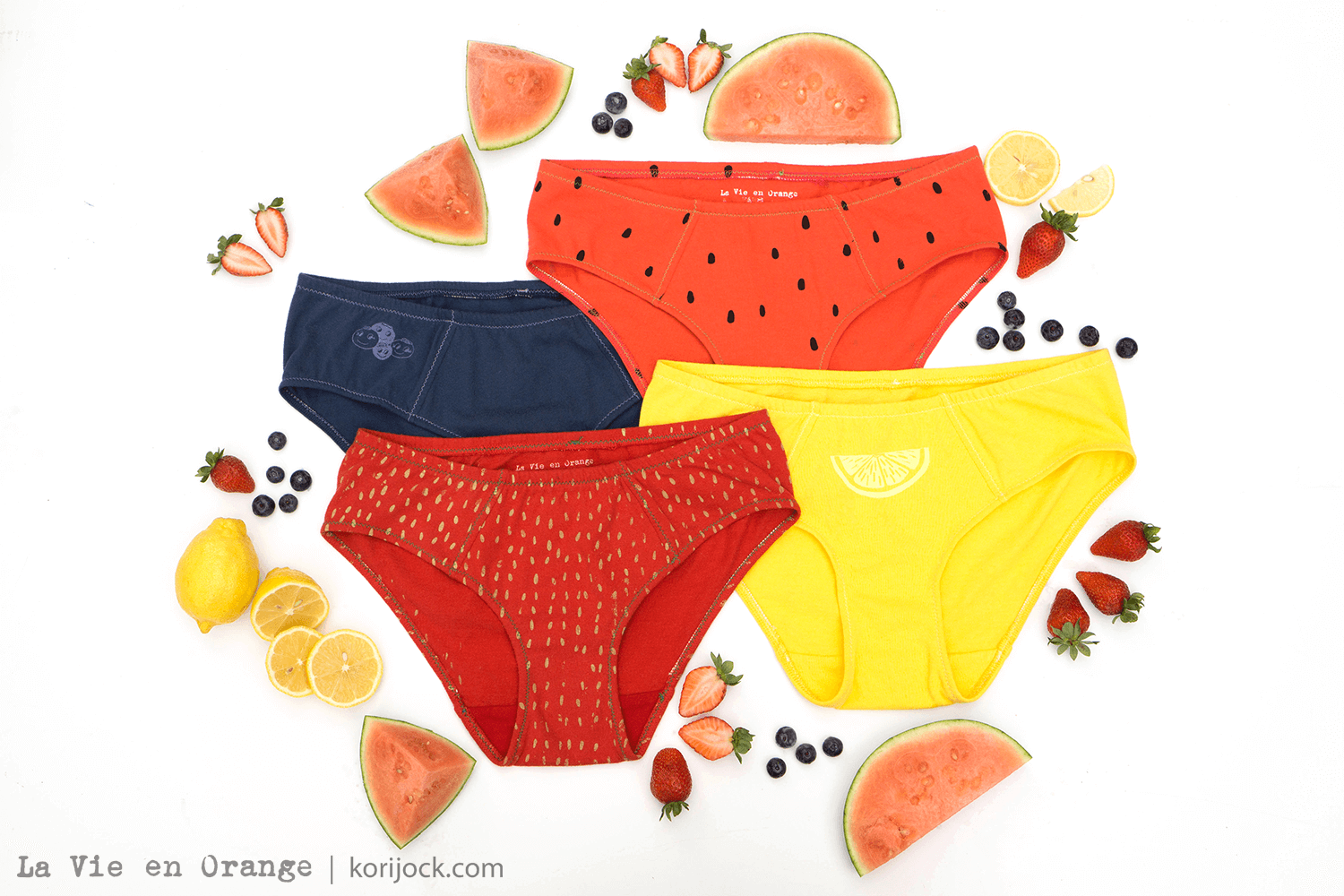 Fruit Salad Handmade Underwear by La Vie en Orange