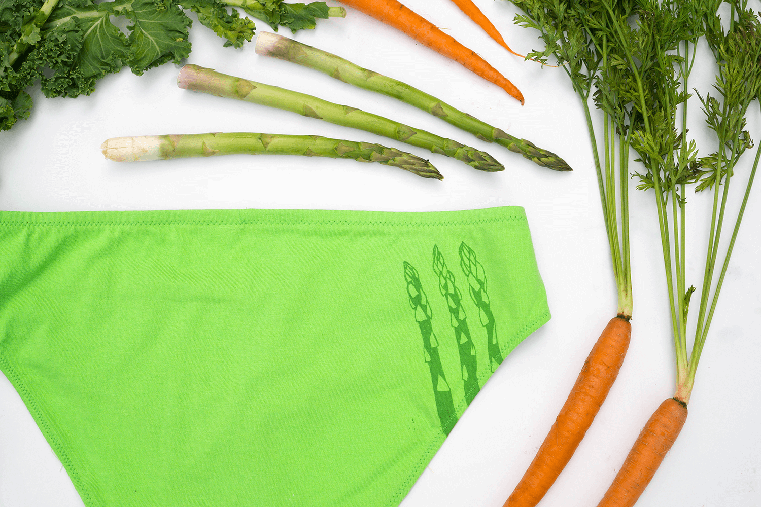 Amazing Asparagus Handmade Underwear by La Vie en Orange