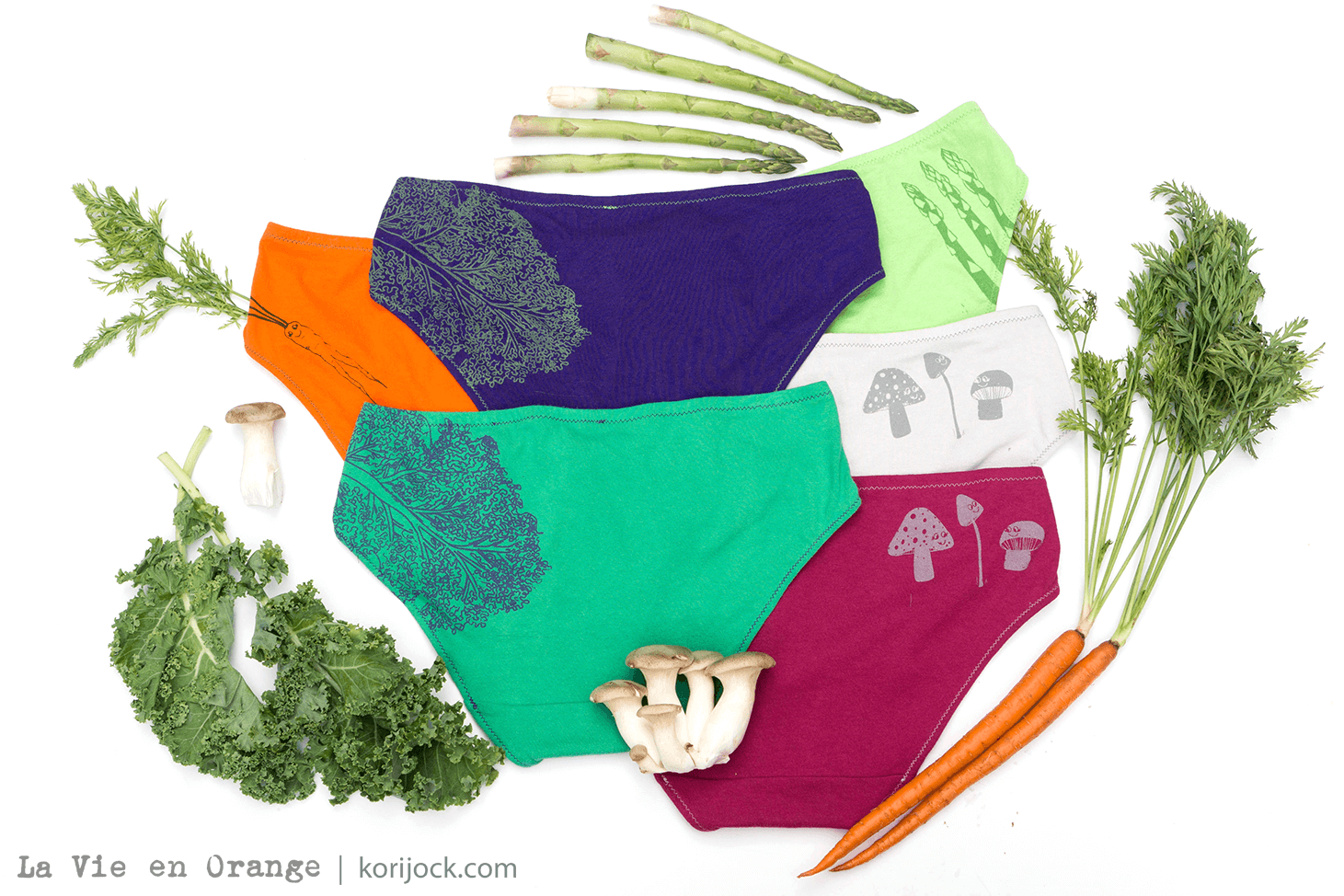 Veggie Tails Handmade Underwear by La Vie en Orange