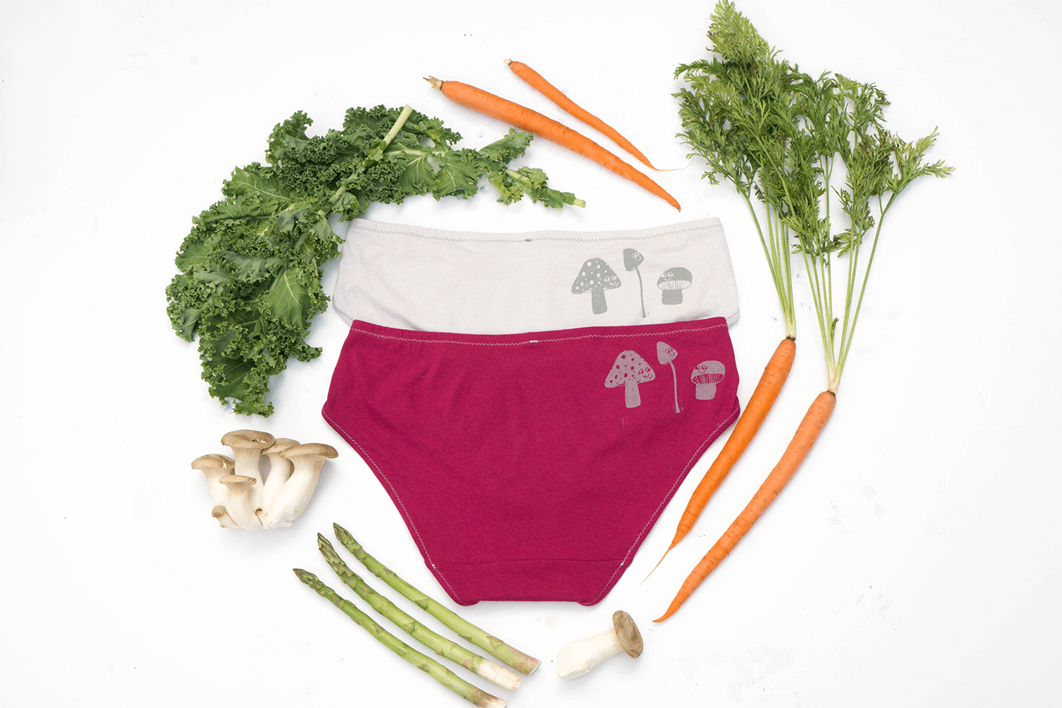 Marvelous Mushrooms Handmade Underwear | La Vie en Orange