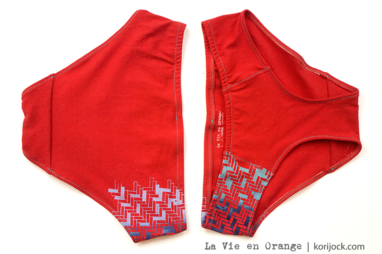 Herringbone women's undies by La Vie en Orange
