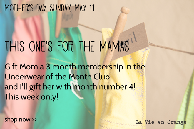 Mother's Day Underwear of the Month Club Sale