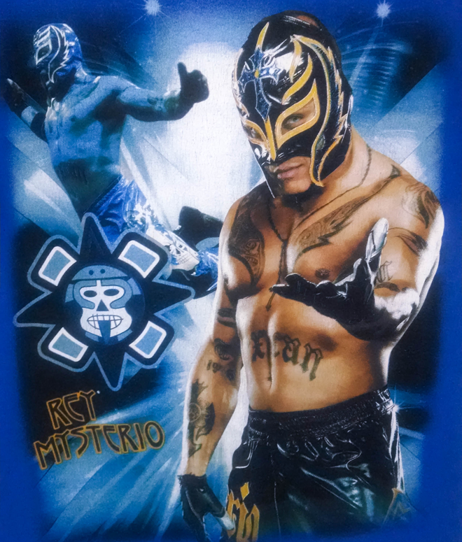 Rey Mysterio definitely wants to get in your pants- look at that come hither stare...