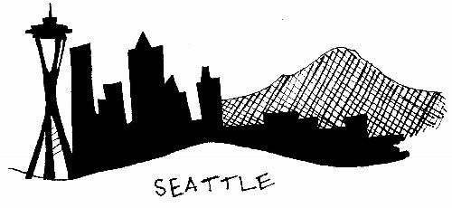 Seattle skyline panties