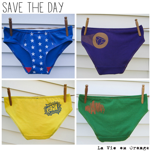 Introducing superhero undies by La Vie en Orange
