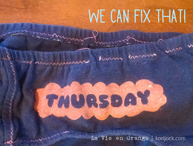 If something weird happens with your La Vie en Orange undies (sometimes bobbins just act up!), we'll fix them, no problem! We'll even send a prepaid envelope your way to make it easy peasy!