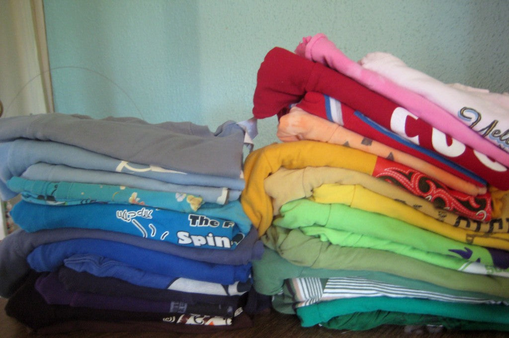 What 20 pounds of tshirts looks like