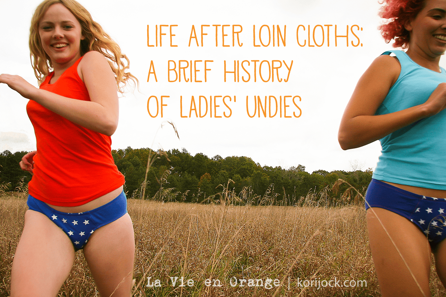 Life After Loin Cloths:  A Brief History of Ladies Undies | La Vie en Orange