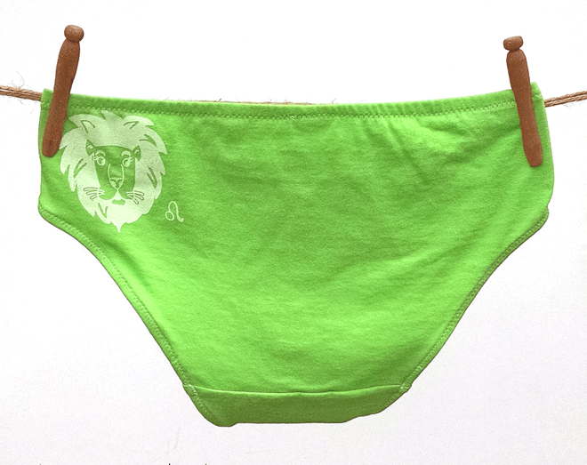 Leo Zodiac Handmade Undies | La Vie en Orange
