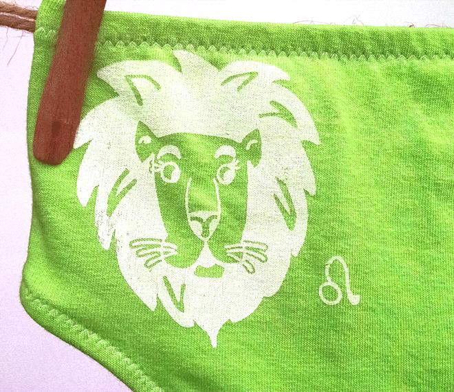 Leo Zodiac Undies | La Vie en Orange