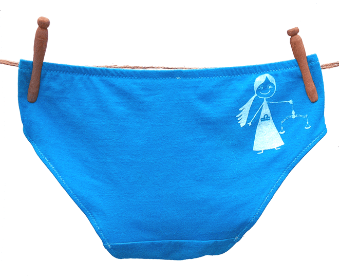 Libra Zodiac Handmade Undies | La Vie en Orange