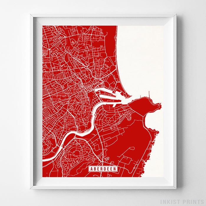 Aberdeen, Scotland Street Map Vertical Print-Poster-Wall_Art-Home_Decor-Inkist_Prints