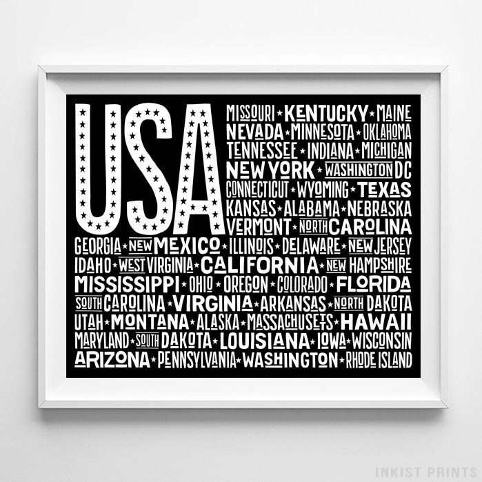 US Flag Type 1 Typography Print-Poster-Wall_Art-Home_Decor-Inkist_Prints