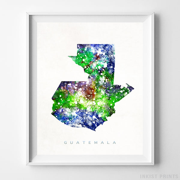 Guatemala Watercolor Map Print-Poster-Wall_Art-Home_Decor-Inkist_Prints