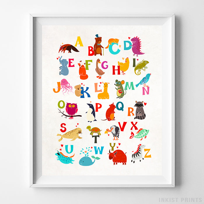 Animal Alphabet Type 3 Print-Poster-Wall_Art-Home_Decor-Inkist_Prints