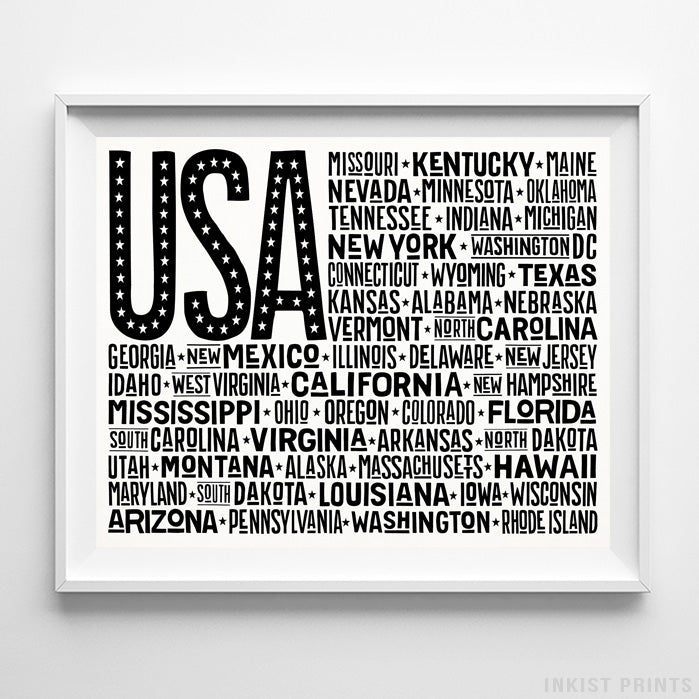 US Flag Type 2 Typography Print-Poster-Wall_Art-Home_Decor-Inkist_Prints