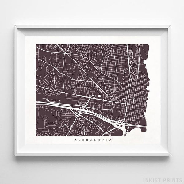 Alexandria, Virginia Street Map Print - Inkist Prints