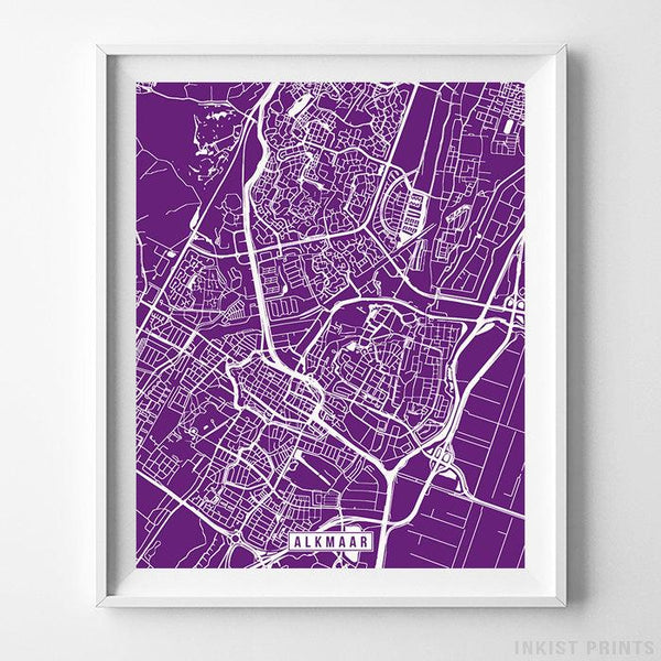 Alkmaar, Netherlands Street Map Vertical Print-Poster-Wall_Art-Home_Decor-Inkist_Prints