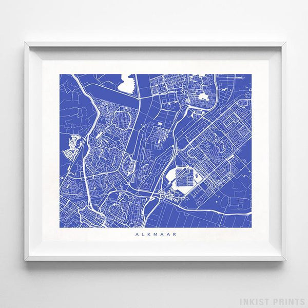 Alkmaar, The Netherlands Street Map Print - Inkist Prints