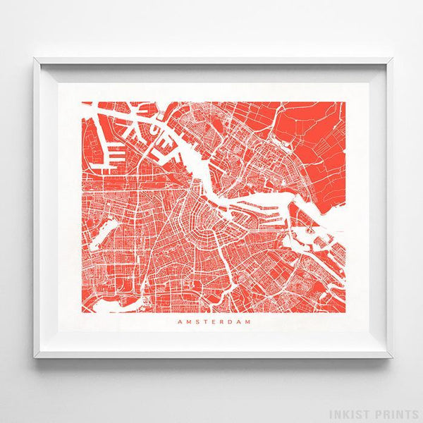 Amsterdam, The Netherlands Street Map Print Poster - Inkist Prints