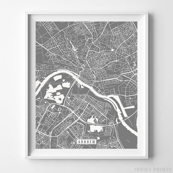 Arnhem, Netherlands Street Map Vertical Print-Poster-Wall_Art-Home_Decor-Inkist_Prints