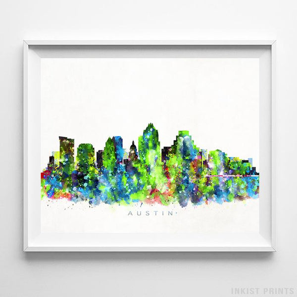 Austin, Texas Skyline Watercolor Print-Poster-Wall_Art-Home_Decor-Inkist_Prints