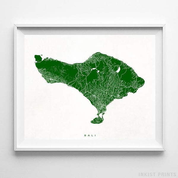 Bali, Indonesia Street Map Print - Inkist Prints