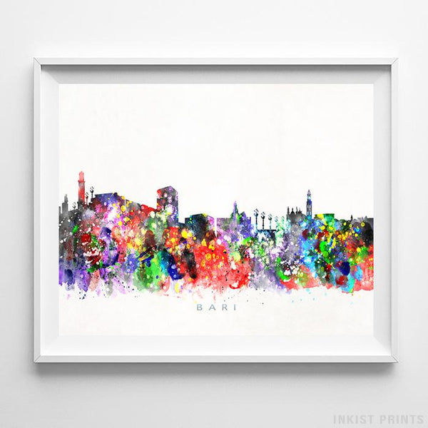 Bari, Italy Skyline Watercolor Print-Poster-Wall_Art-Home_Decor-Inkist_Prints