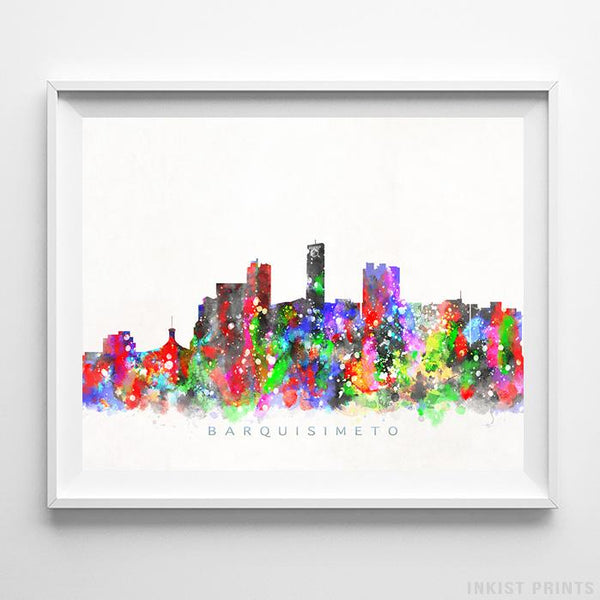 Barquisimeto, Venezuela Skyline Watercolor Print-Poster-Wall_Art-Home_Decor-Inkist_Prints