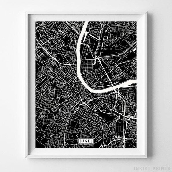 Basel, Switzerland Street Map Vertical Print-Poster-Wall_Art-Home_Decor-Inkist_Prints