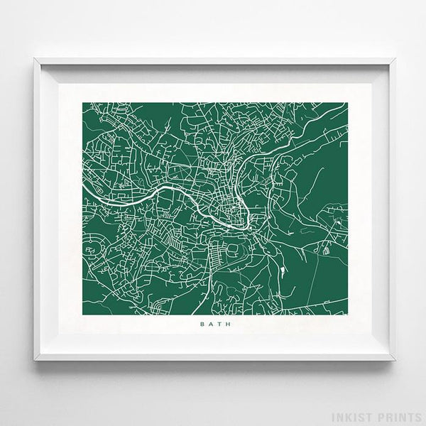 Bath, England Street Map Horizontal Print-Poster-Wall_Art-Home_Decor-Inkist_Prints
