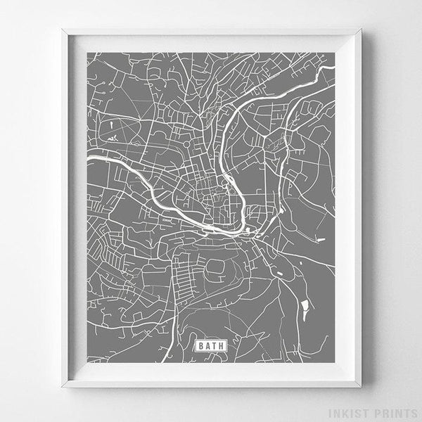 Bath, England Street Map Vertical Print-Poster-Wall_Art-Home_Decor-Inkist_Prints